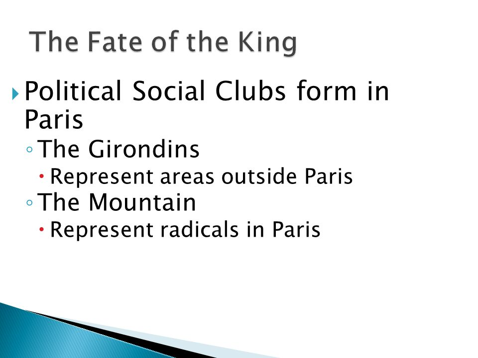 The Fate of the King Political Social Clubs form in Paris