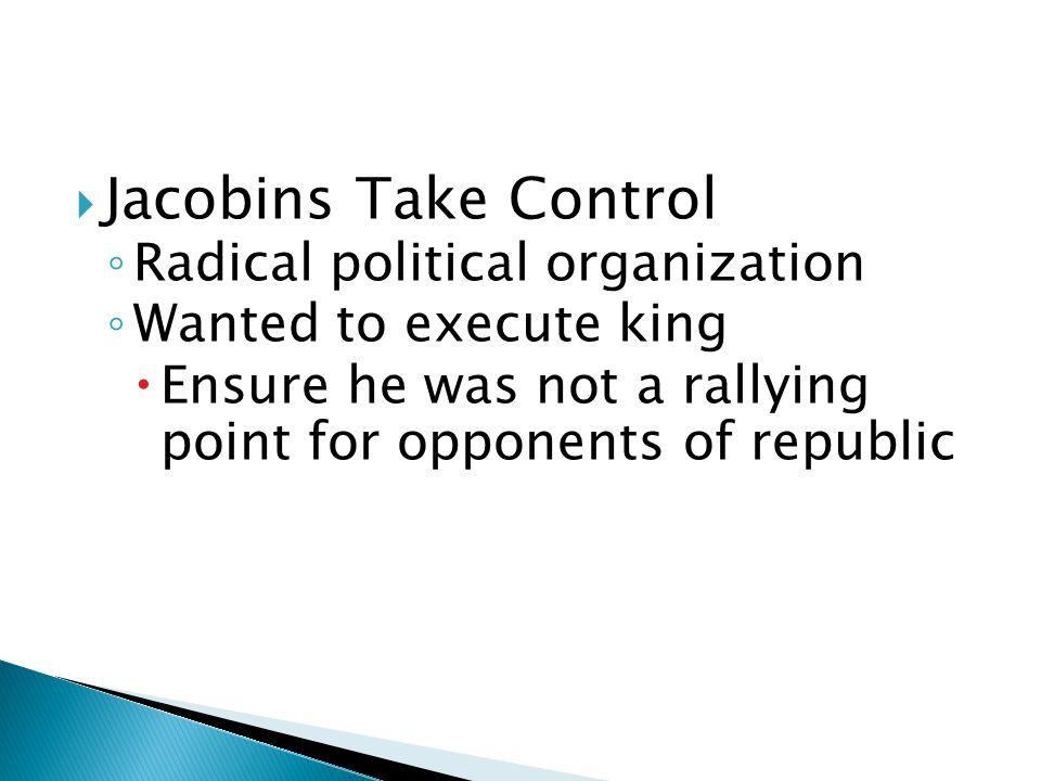 Jacobins Take Control Radical political organization