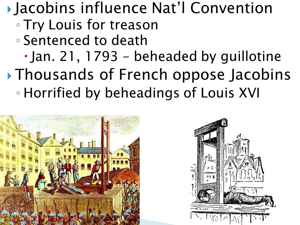 Jacobins influence Nat'l Convention