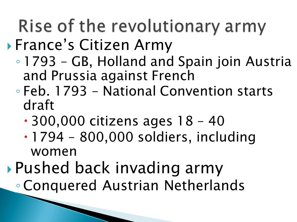 Rise of the revolutionary army