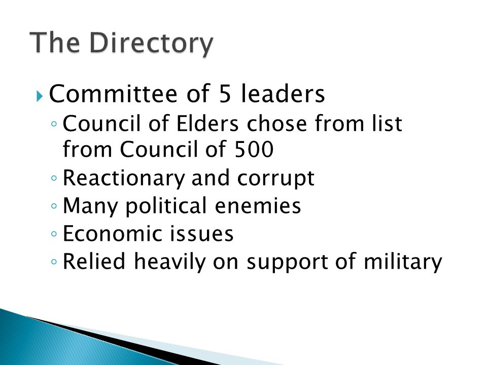 The Directory Committee of 5 leaders