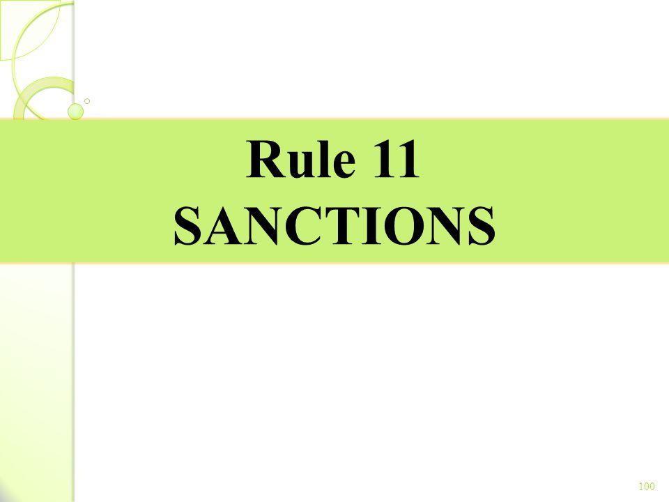 Rule 11 SANCTIONS