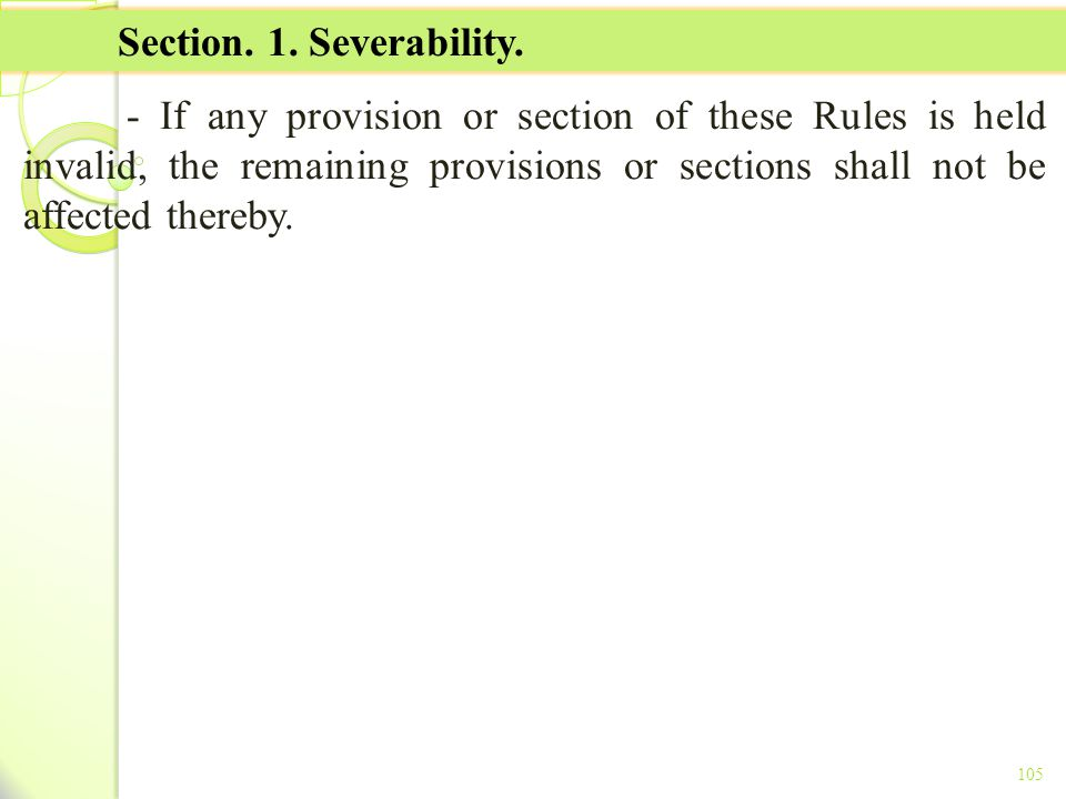 TITLE II - TAX ON INCOME Section. 1. Severability.