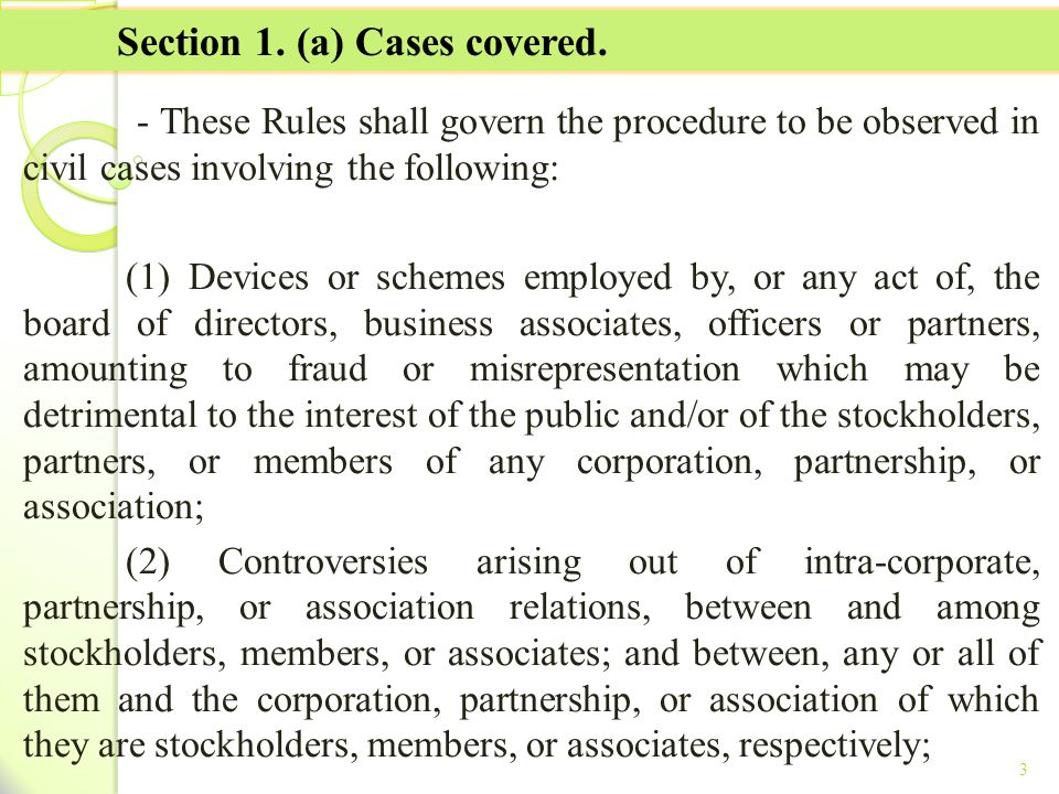 Section 1. (a) Cases covered.