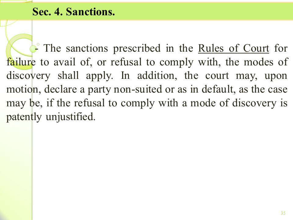 TITLE II - TAX ON INCOME Sec. 4. Sanctions.