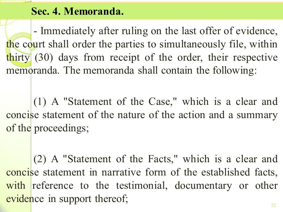 TITLE II - TAX ON INCOME Sec. 4. Memoranda.