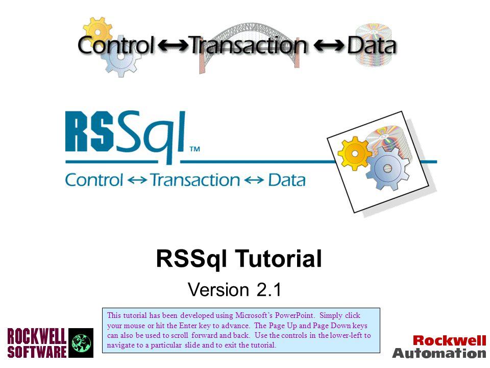 RSSql Tutorial Version 2.1