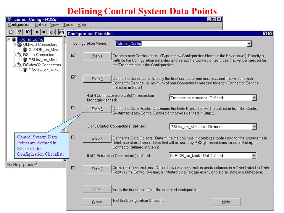 Defining Control System Data Points