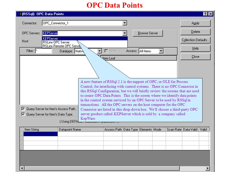 OPC Data Points