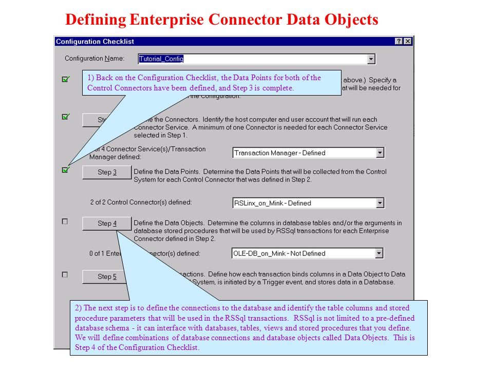 Defining Enterprise Connector Data Objects