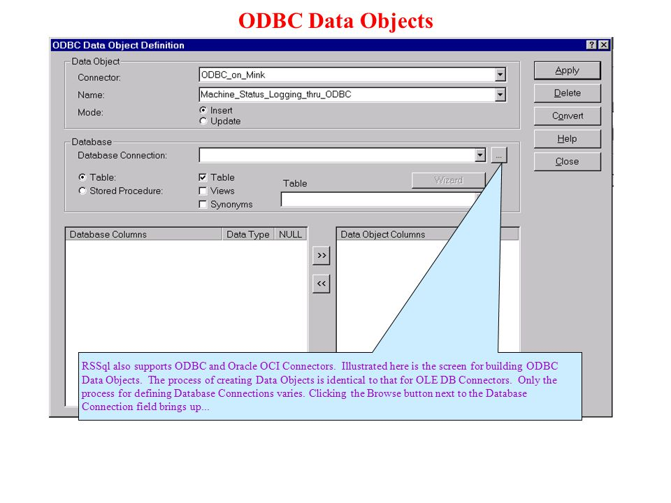 ODBC Data Objects