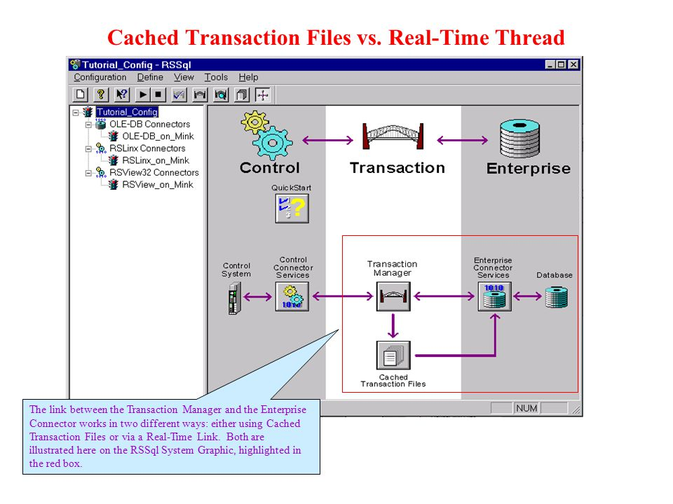 Cached Transaction Files vs. Real-Time Thread