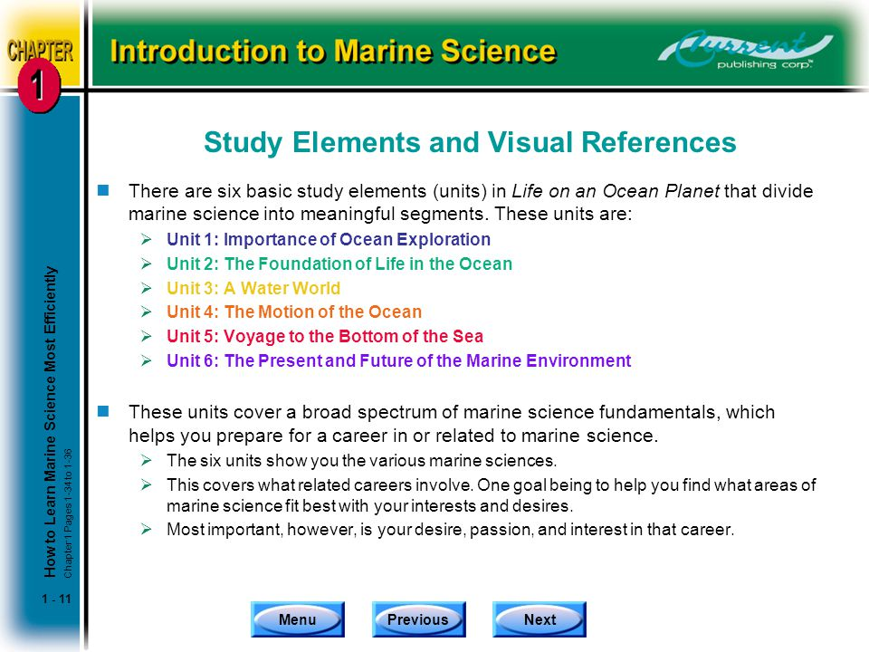 Study Elements and Visual References