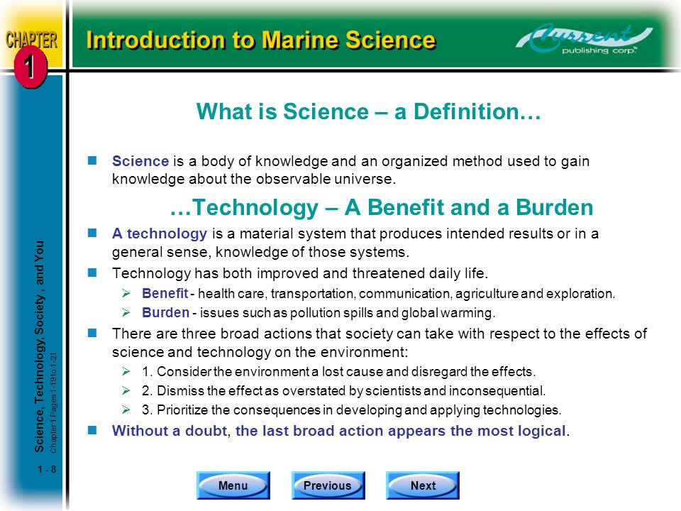 What is Science – a Definition…