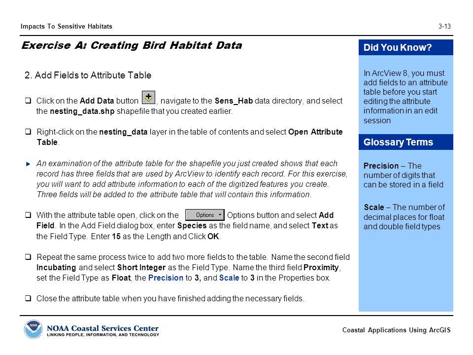 Exercise A: Creating Bird Habitat Data