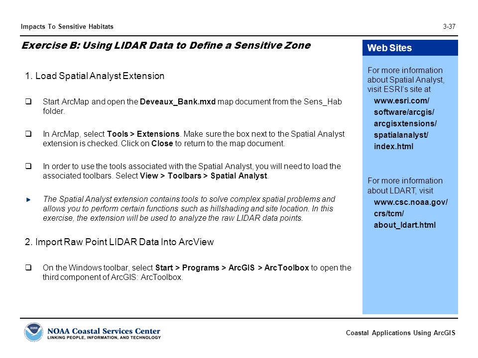 Exercise B: Using LIDAR Data to Define a Sensitive Zone
