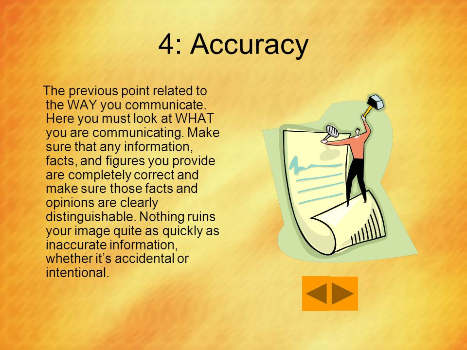 4: Accuracy