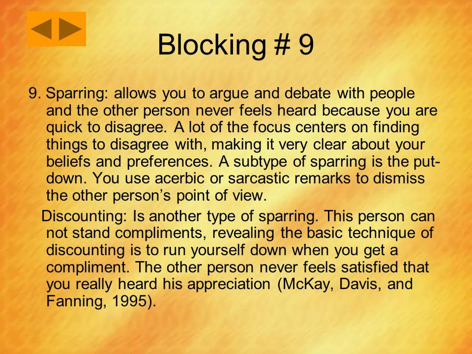 Blocking # 9