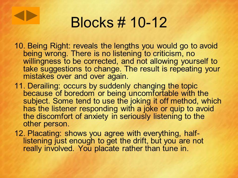Blocks # 10-12