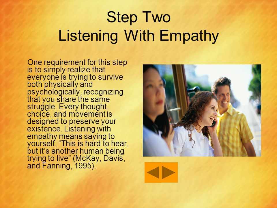 Step Two Listening With Empathy
