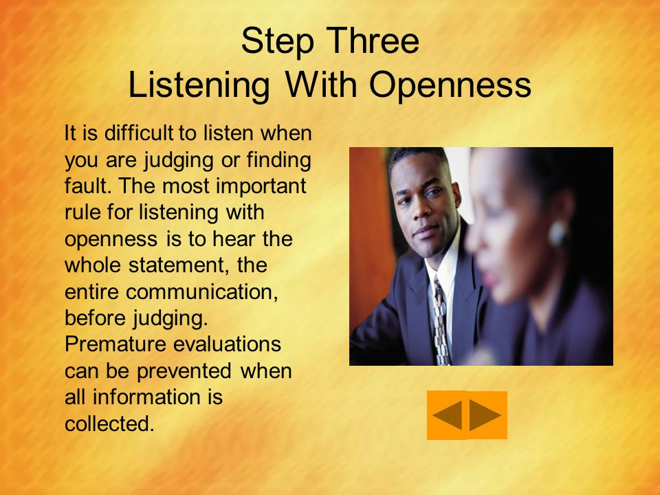 Step Three Listening With Openness