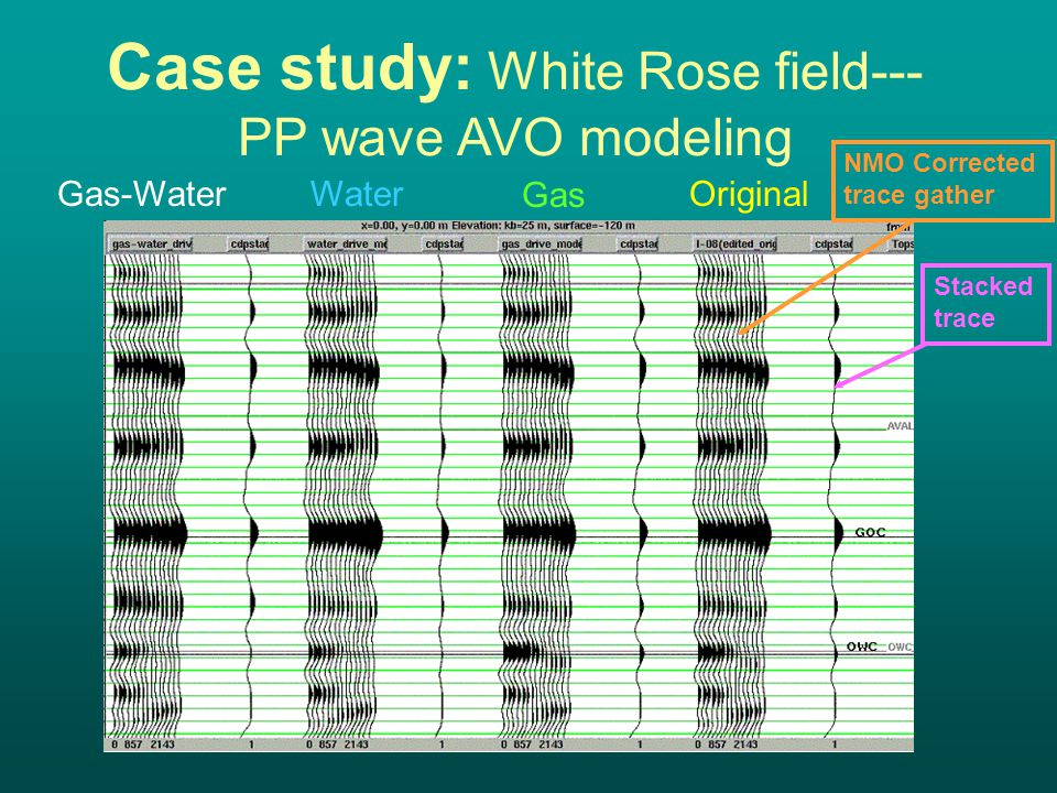 Case study: White Rose field--- PP wave AVO modeling