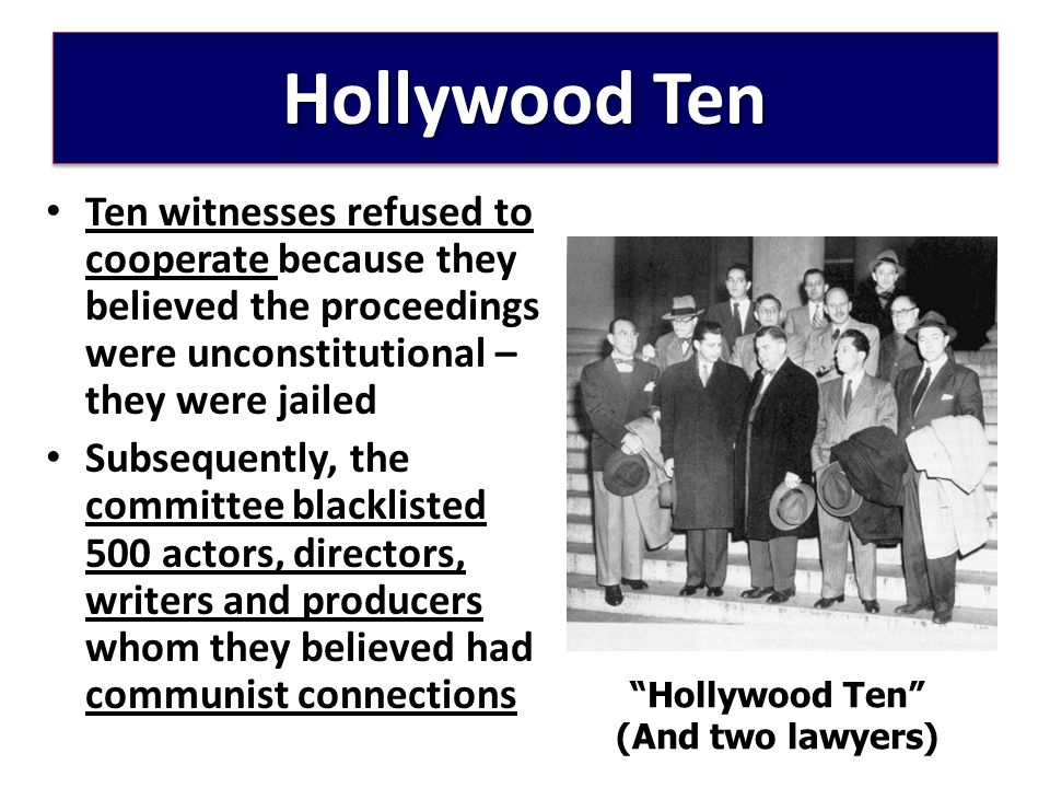 Hollywood Ten (And two lawyers)