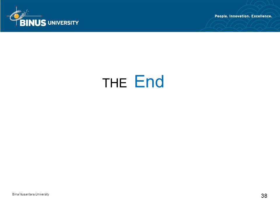 THE End Bina Nusantara University