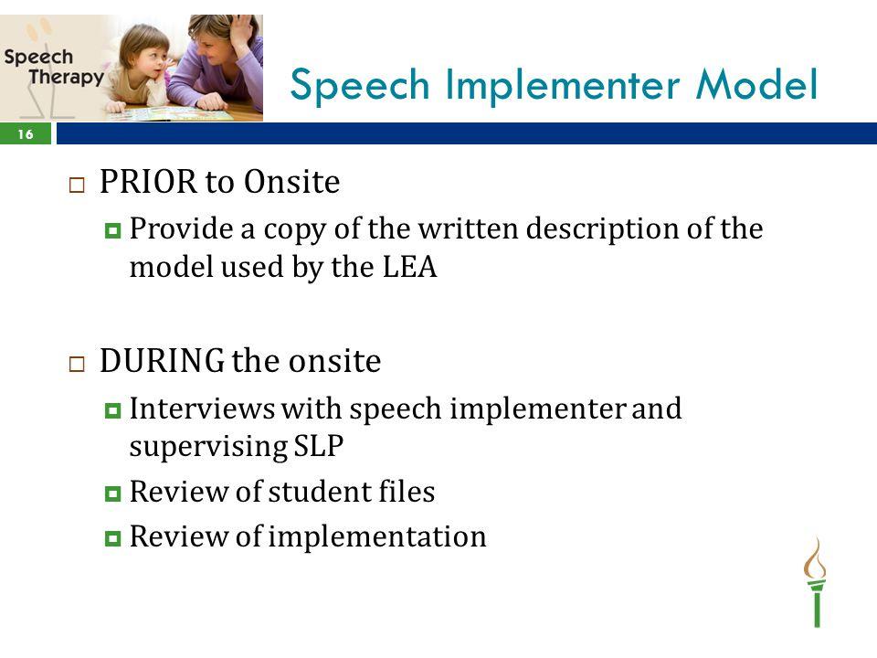 Speech Implementer Model