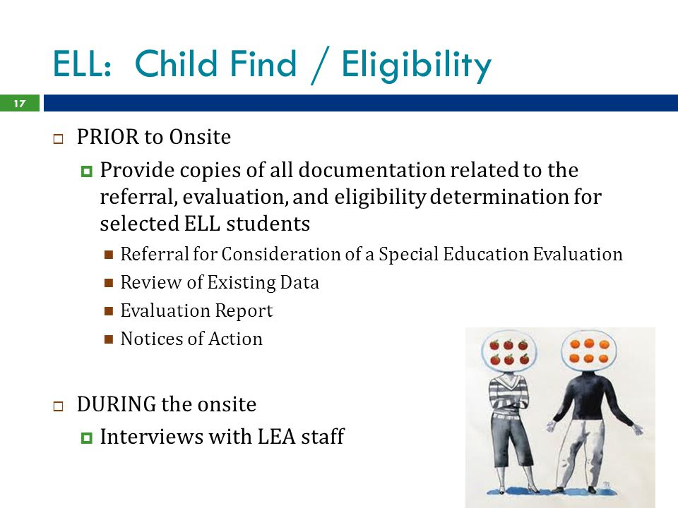 ELL: Child Find / Eligibility