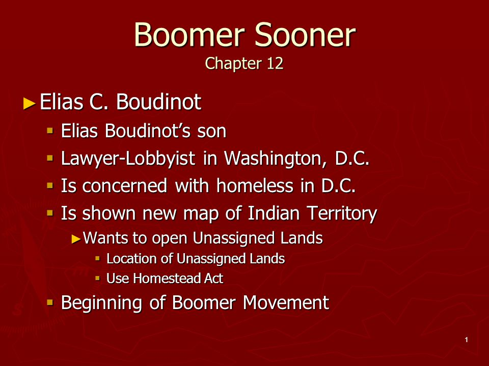 Boomer Sooner Chapter 12 Elias C. Boudinot Elias Boudinot's son