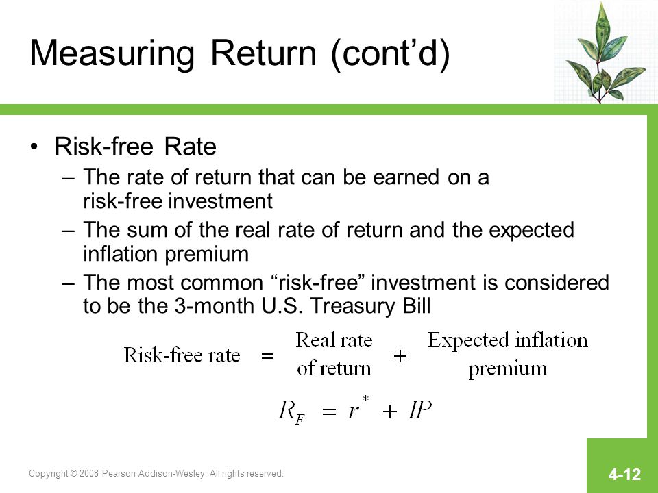 Measuring Return (cont'd)