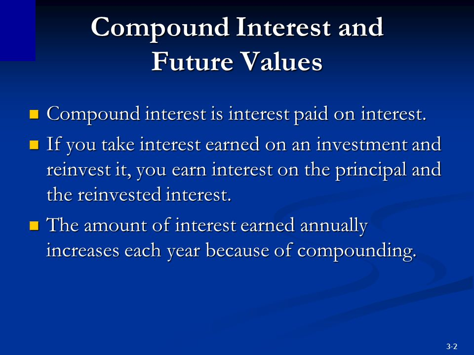 Compound Interest and Future Values