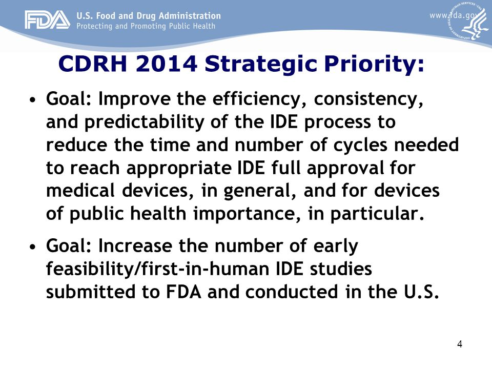CDRH 2014 Strategic Priority: