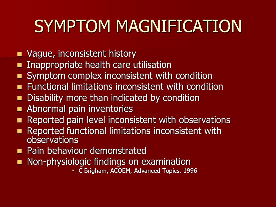 SYMPTOM MAGNIFICATION