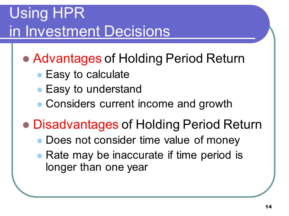 Using HPR in Investment Decisions