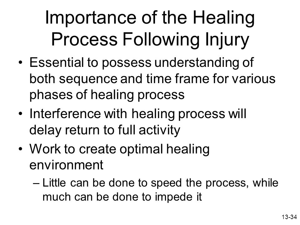 Importance of the Healing Process Following Injury