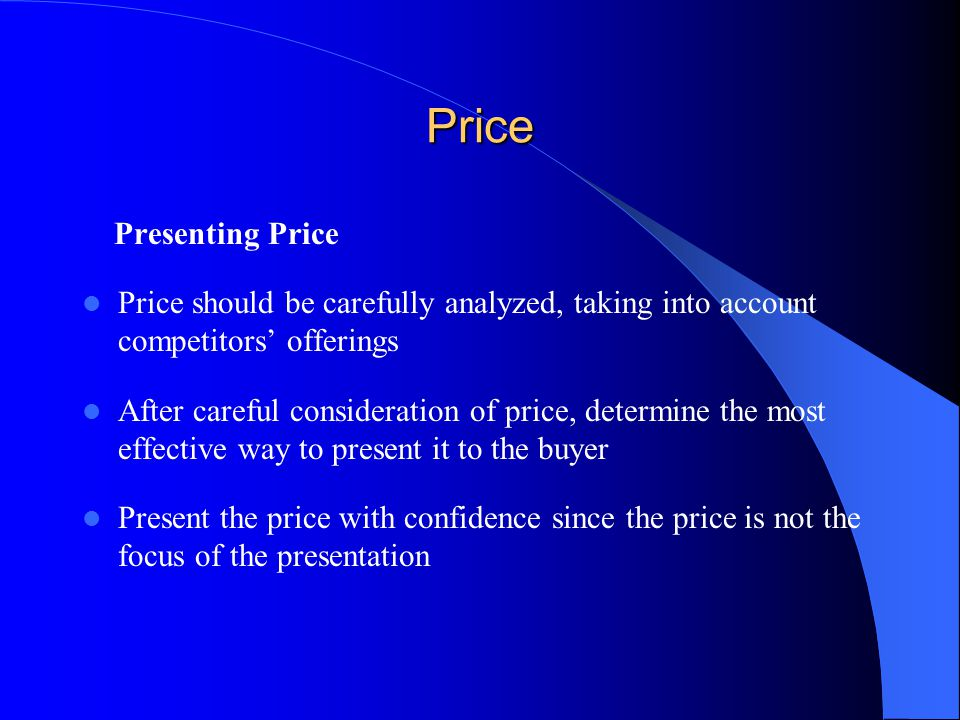 Price Presenting Price