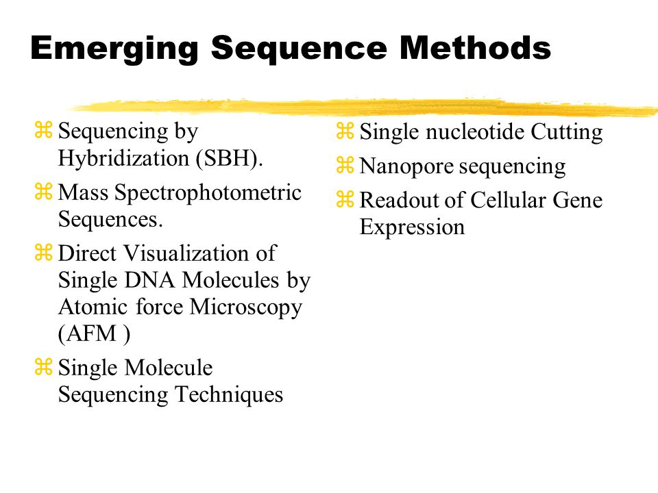 Emerging Sequence Methods