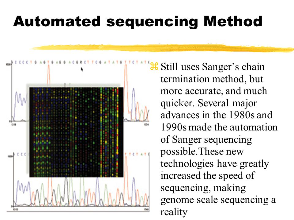 Automated sequencing Method