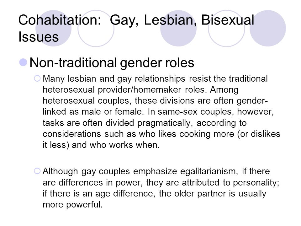 Cohabitation: Gay, Lesbian, Bisexual Issues