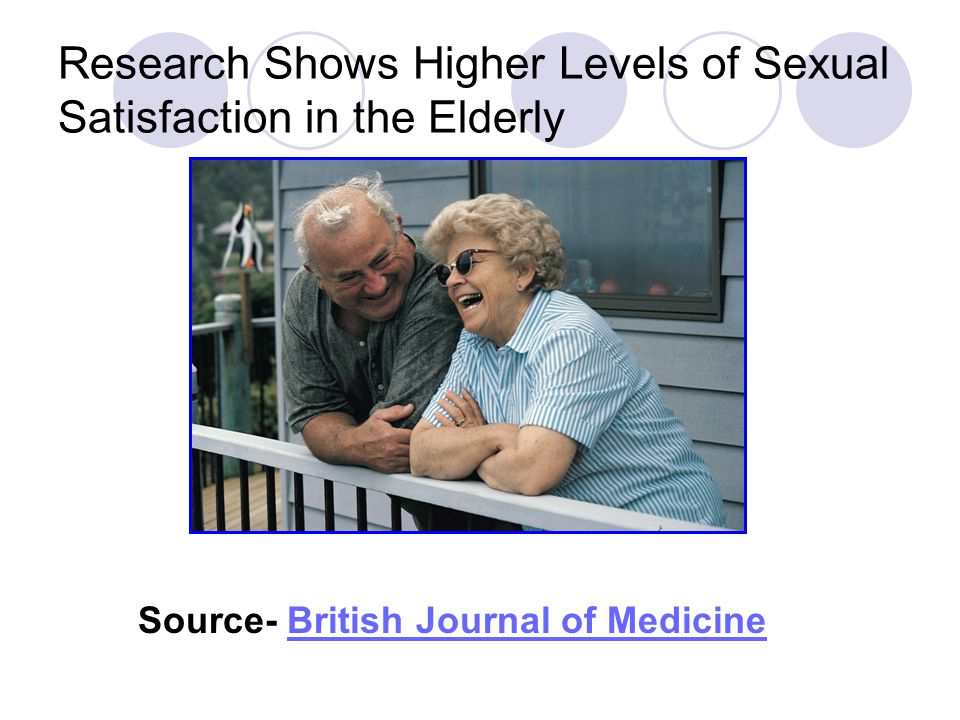 Research Shows Higher Levels of Sexual Satisfaction in the Elderly