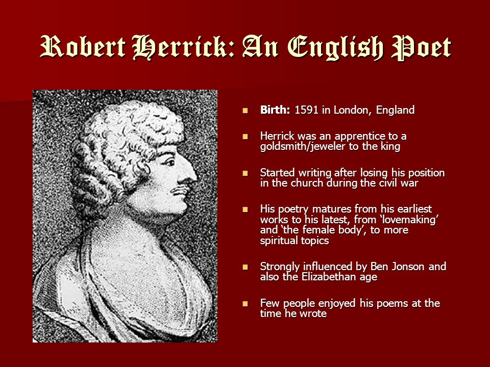 Robert Herrick: An English Poet