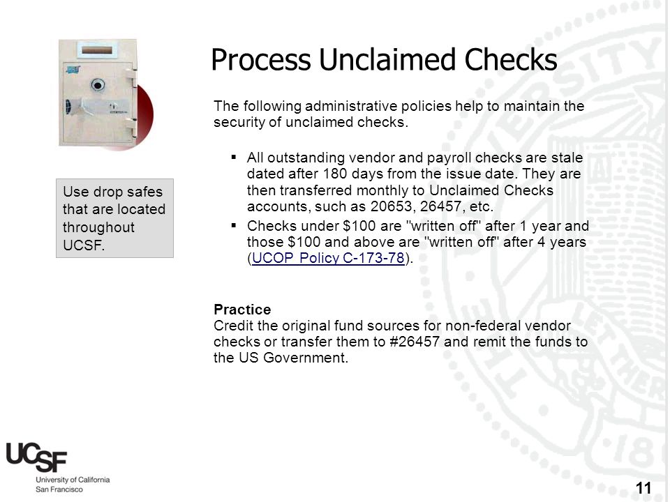 Process Unclaimed Checks