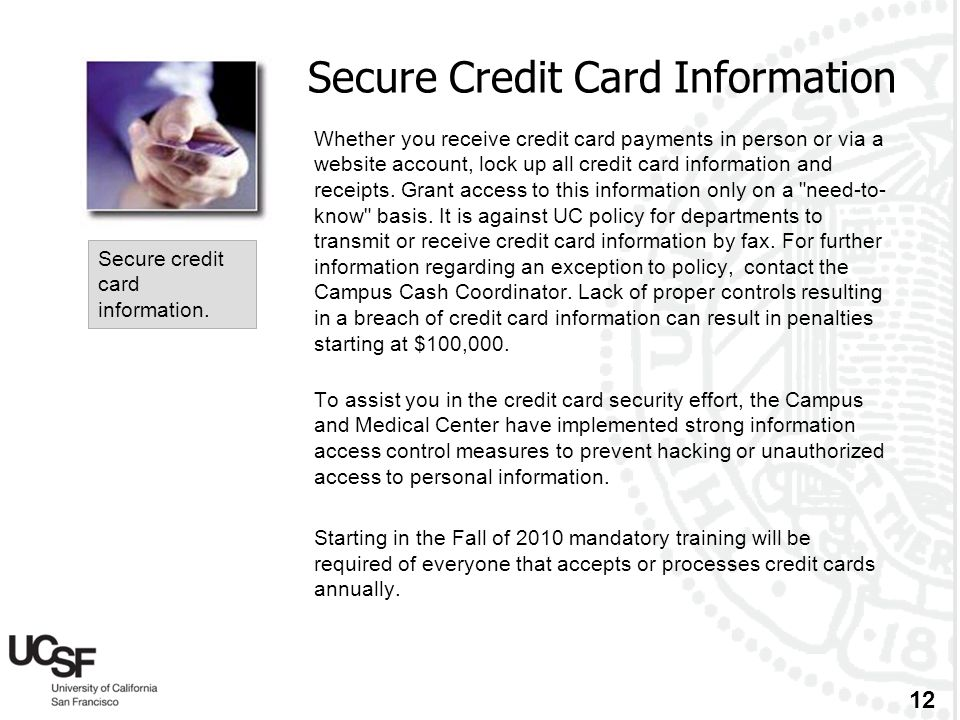 Secure Credit Card Information