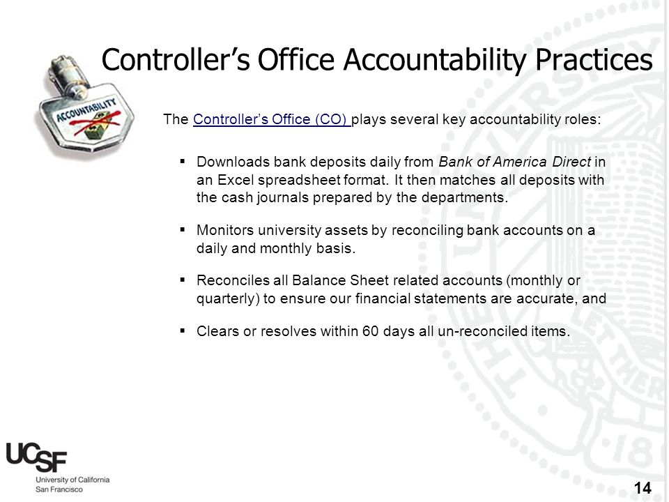 Controller's Office Accountability Practices