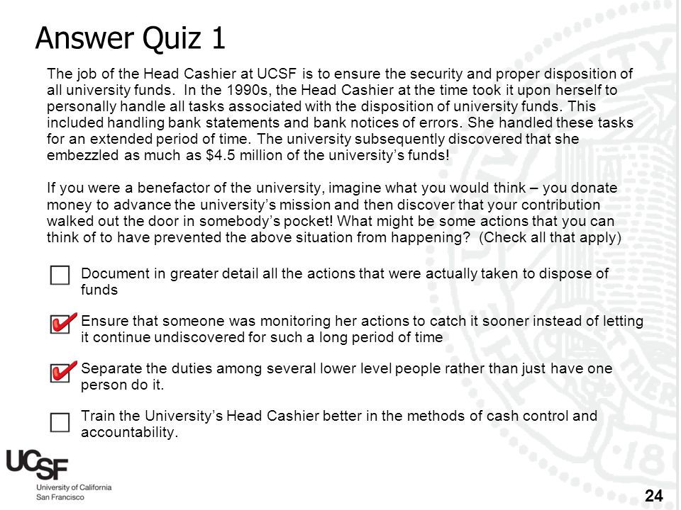 Answer Quiz 1