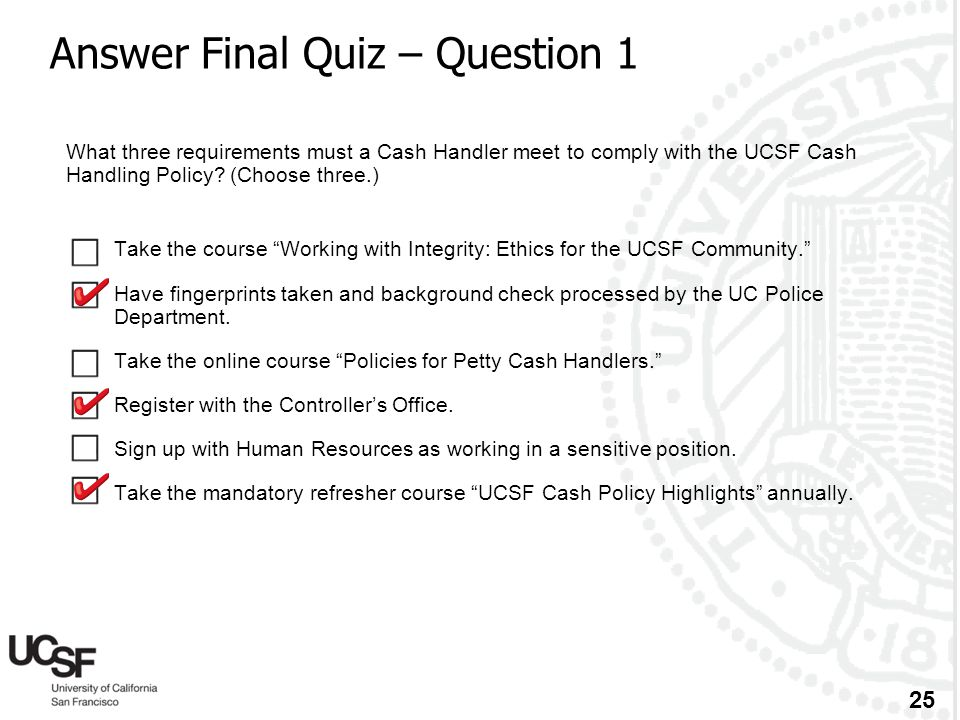 Answer Final Quiz – Question 1