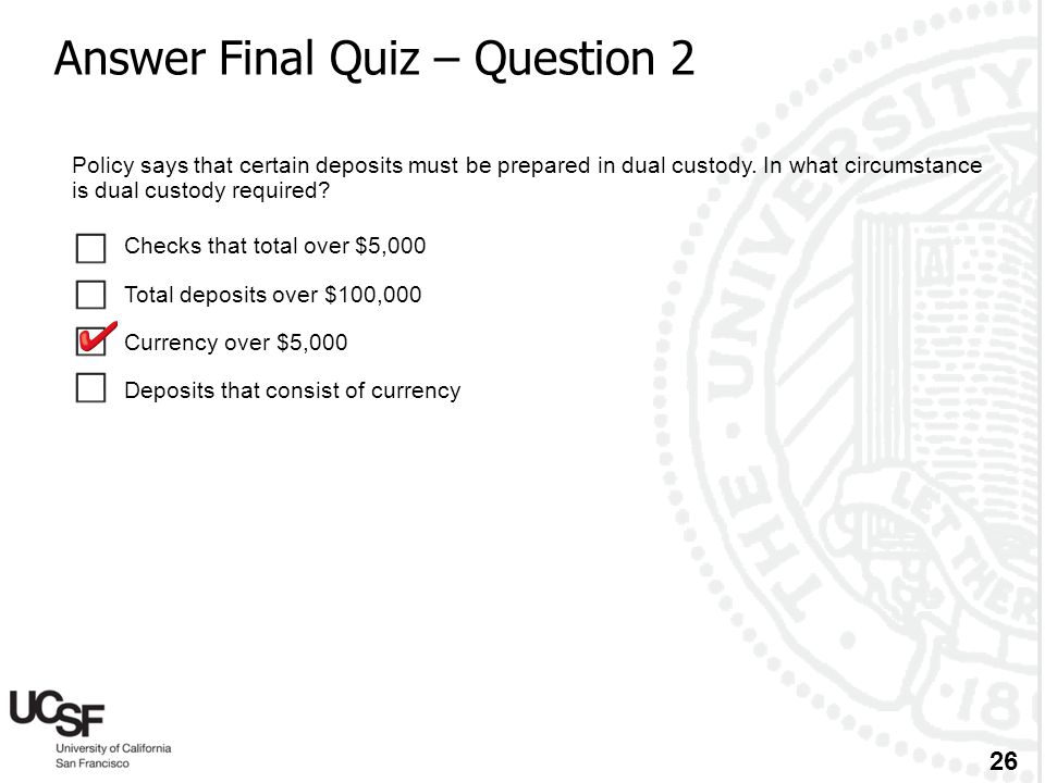 Answer Final Quiz – Question 2