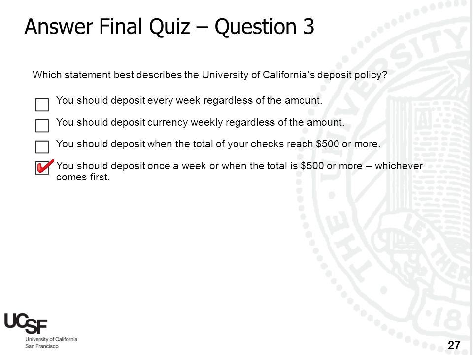 Answer Final Quiz – Question 3
